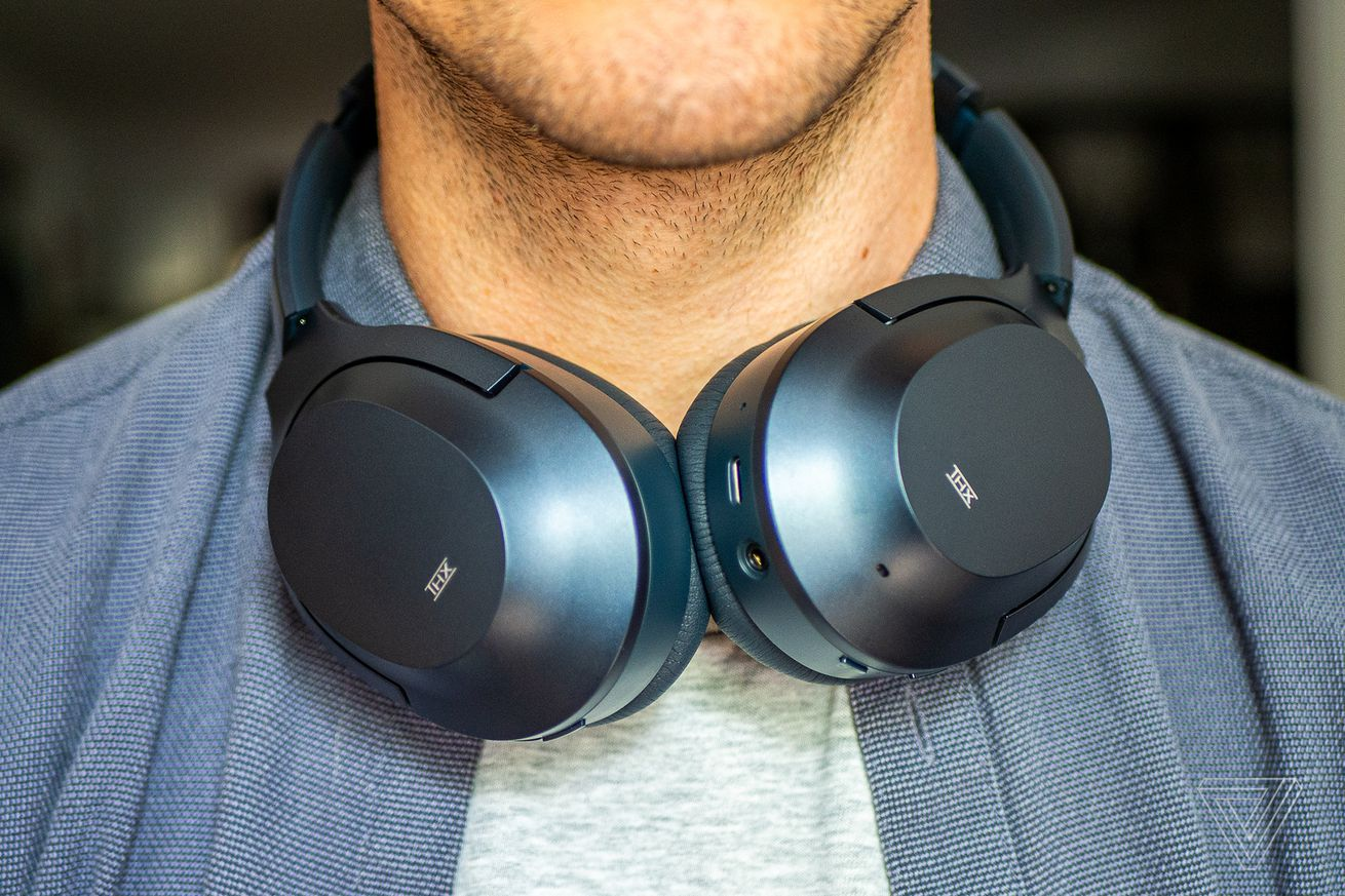 Razer Opus, the best noise-canceling headphones for around $200, worn around the neck.