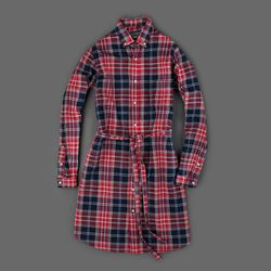 """Gitman hopsack plaid dress, originally $175, final sale price, <a href=""""http://www.millmercantile.com/Gitman_Brothers_Hopsack_Dress_in_Red_and_Blue_Plaid_11442.html"""">$63</a>"""