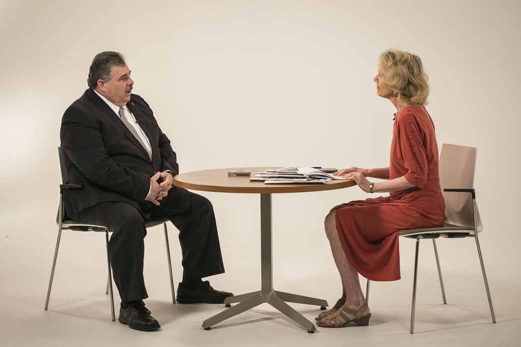 Fraternal Order of Police President Kevin Graham is interviewed by Fran Spielman.