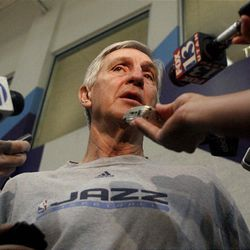 Coach Jerry Sloan emphasizes with Jazz newcomers.