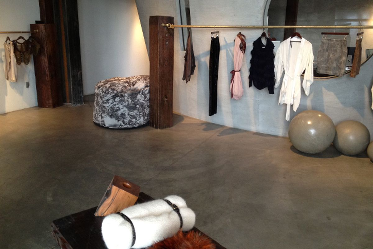 Inside the Society for Rational Dress showroom. Photo courtesy Coeur.