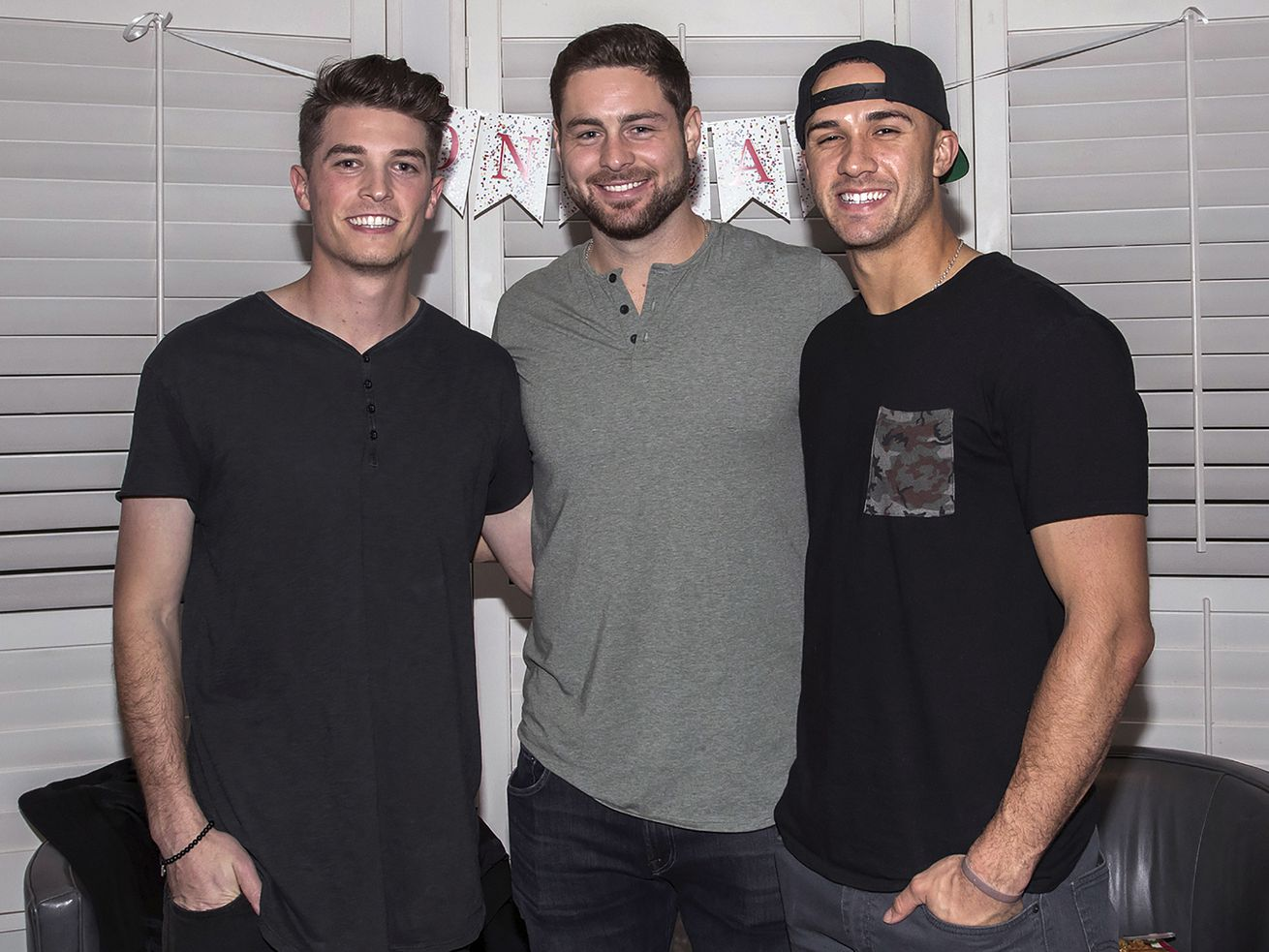 This photo shows, from left, Max Fried, Lucas Giolito and Jack Flaherty in 2018. The three were high school teammates and all will be MLB Opening Day starters this week.