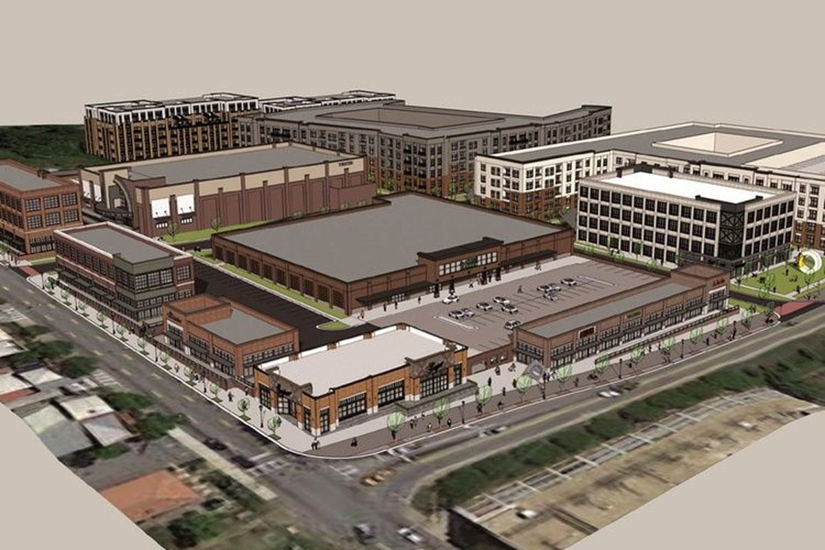 A rendering illustrating the Madison Yards overview.