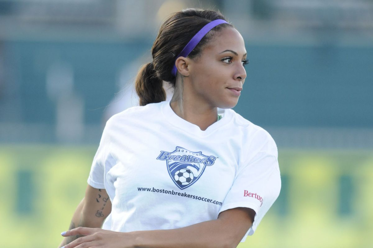 Breakers forward Syndey Leroux and International teammate Abby Wambach earned first-team honors