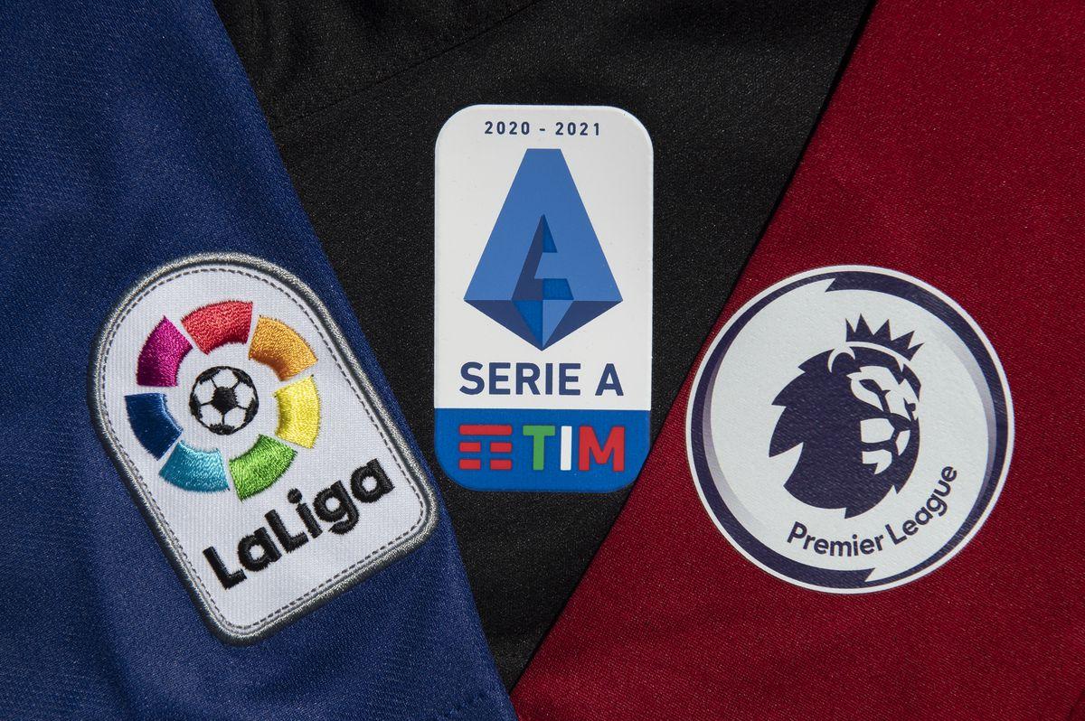 The La Liga, Serie A and Premier League Logos...