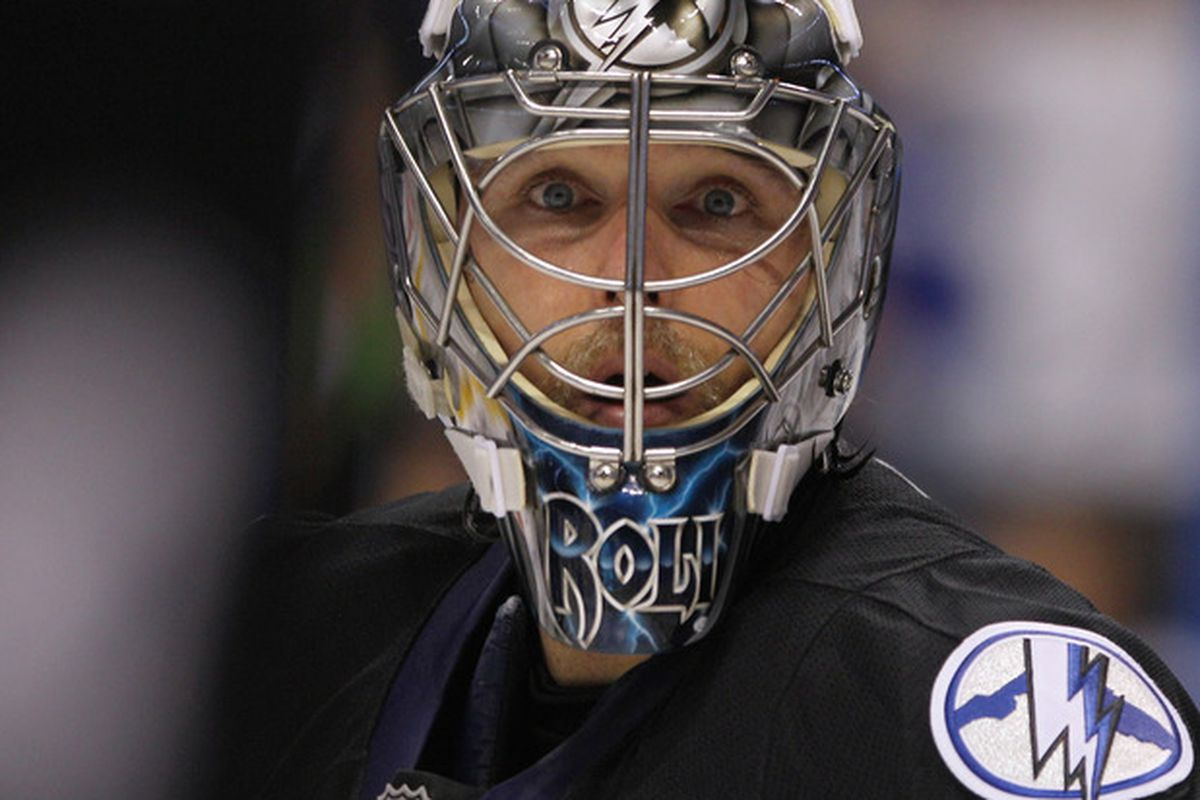 Dwayne Roloson looks as surprised as the rest of us that the Lightning have taken a three games to none lead in their Eastern Conference Semi-Final against the Capitals. Can his team complete the sweep tonight?