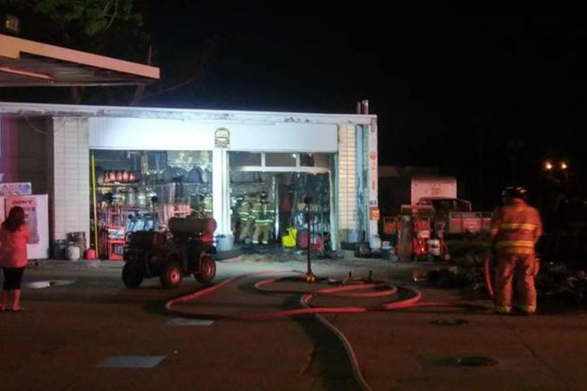 A Layton automotive services business was saved by firefighters late Wednesday but sustained $65,000 in damage in a possible electrical fire.