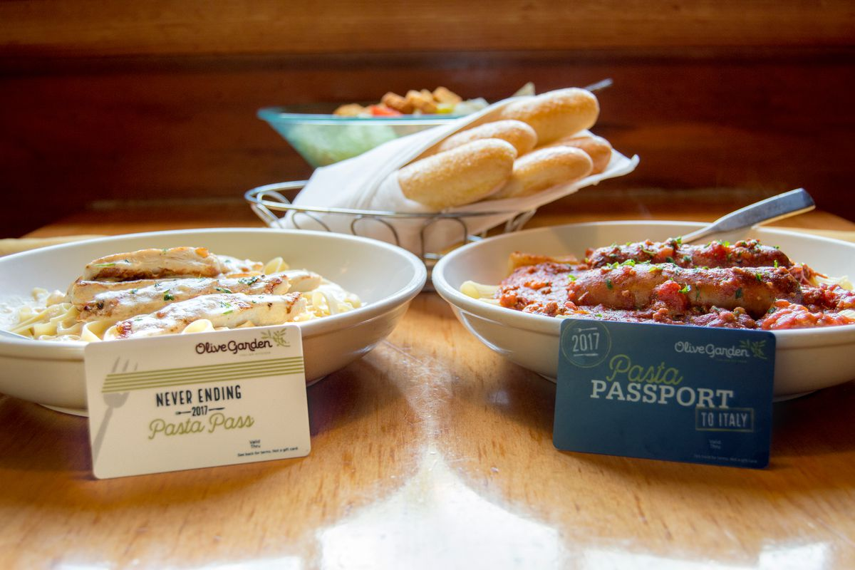 Olive Garden\'s Never Ending Pasta Pass Sold Out in One Second - Eater