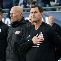 FOXBOROUGH, MA - MAY 11: New England Revolution interim head coach Mike Lapper prior to the match against the San Jose Earthquakes at Gillette Stadium on May 11, 2019 in Foxborough, Massachusetts. (Photo by J. Alexander Dolan - The Bent Musket)