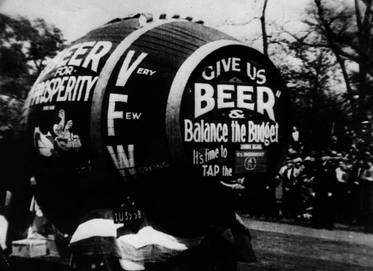 A protest against Prohibition.