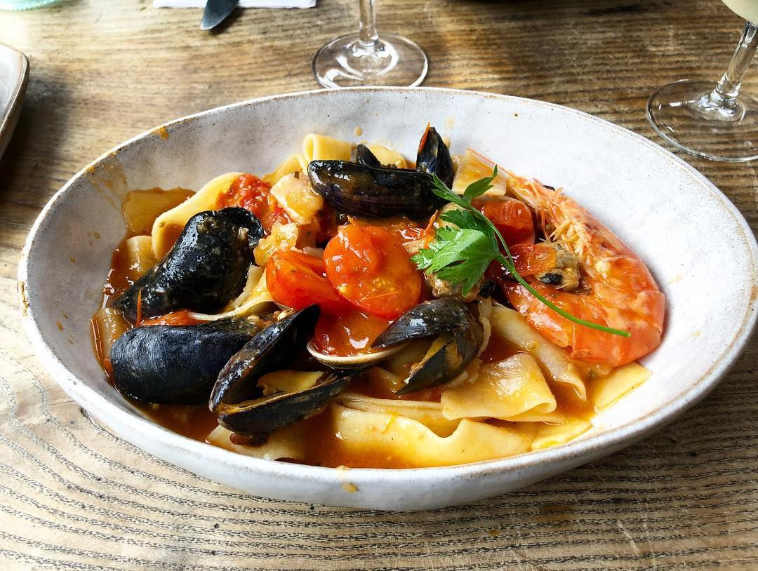 Campania, one of London's best Italian restaurants, sits just off Columbia Road in Shoreditch