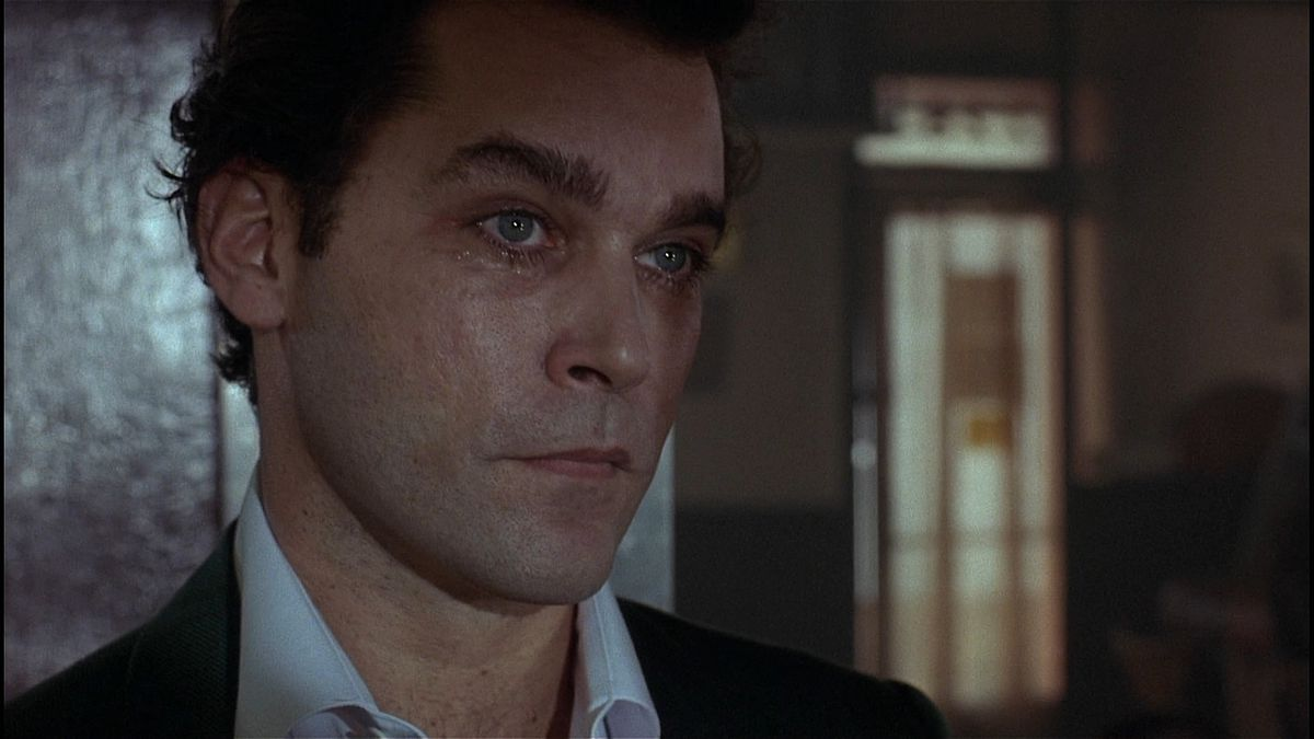 Ray Liotta, sweaty and with a bruised eye, in Goodfellas
