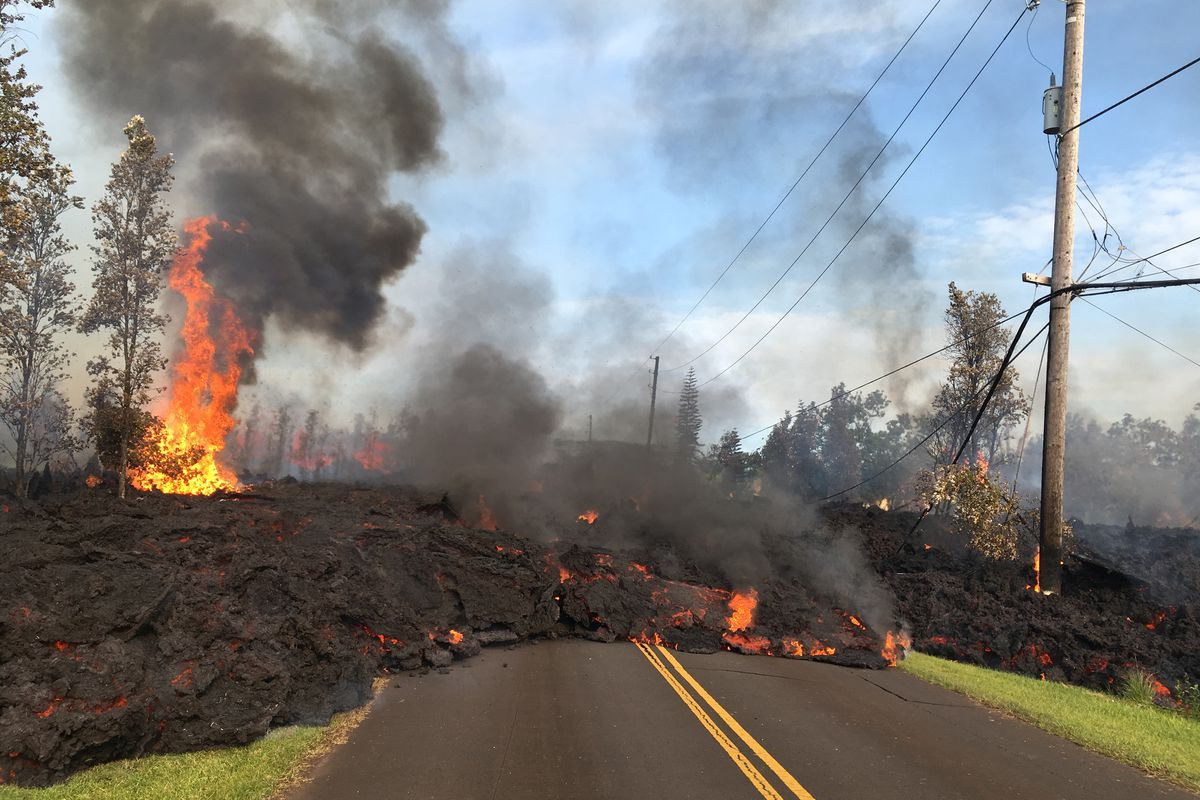 Lava Flows Out Of One The Fissures In Kilauea Volcano Saturday On Big Island Hawaii US Geological Survey