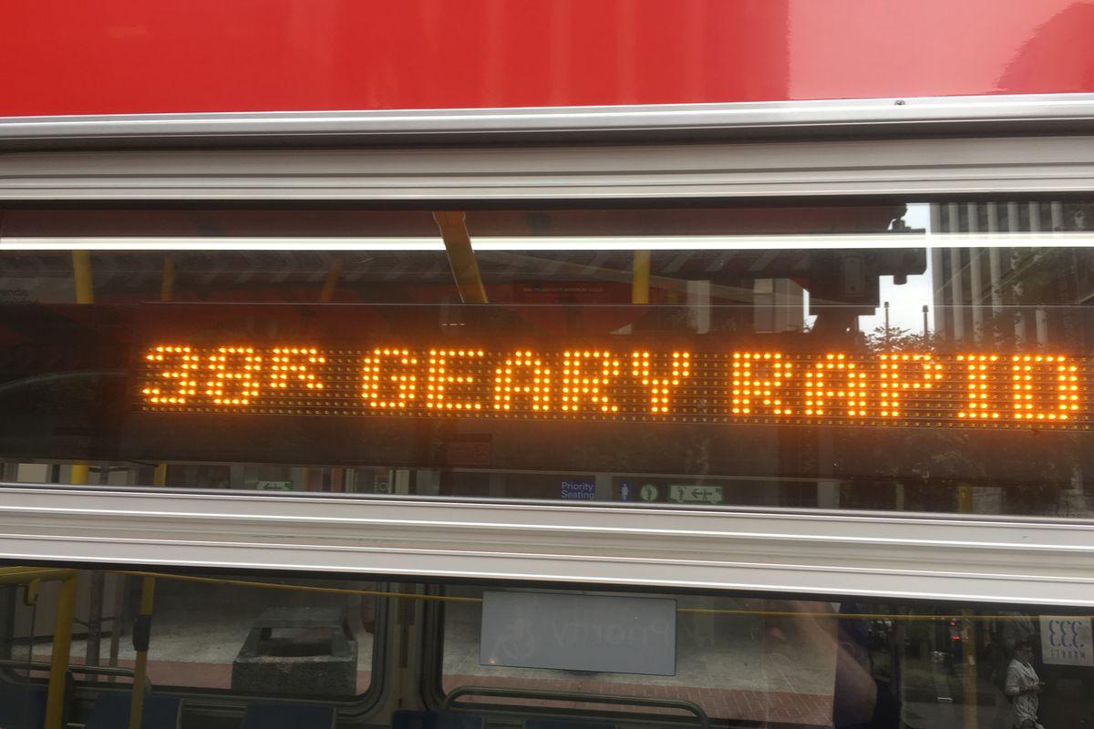 Muni's 38 Geary bus: No longer San Francisco's worst rush hour