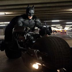 """Christian Bale as Batman in a scene from the action thriller """"The Dark Knight Rises."""""""