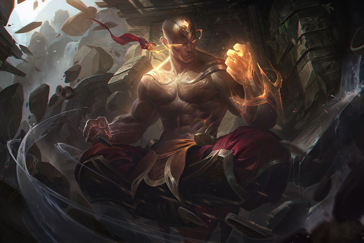 new lee sin skin god fist is shiny golden and can see