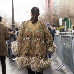Look back at it: Beaded coats are where it's at, obviously.