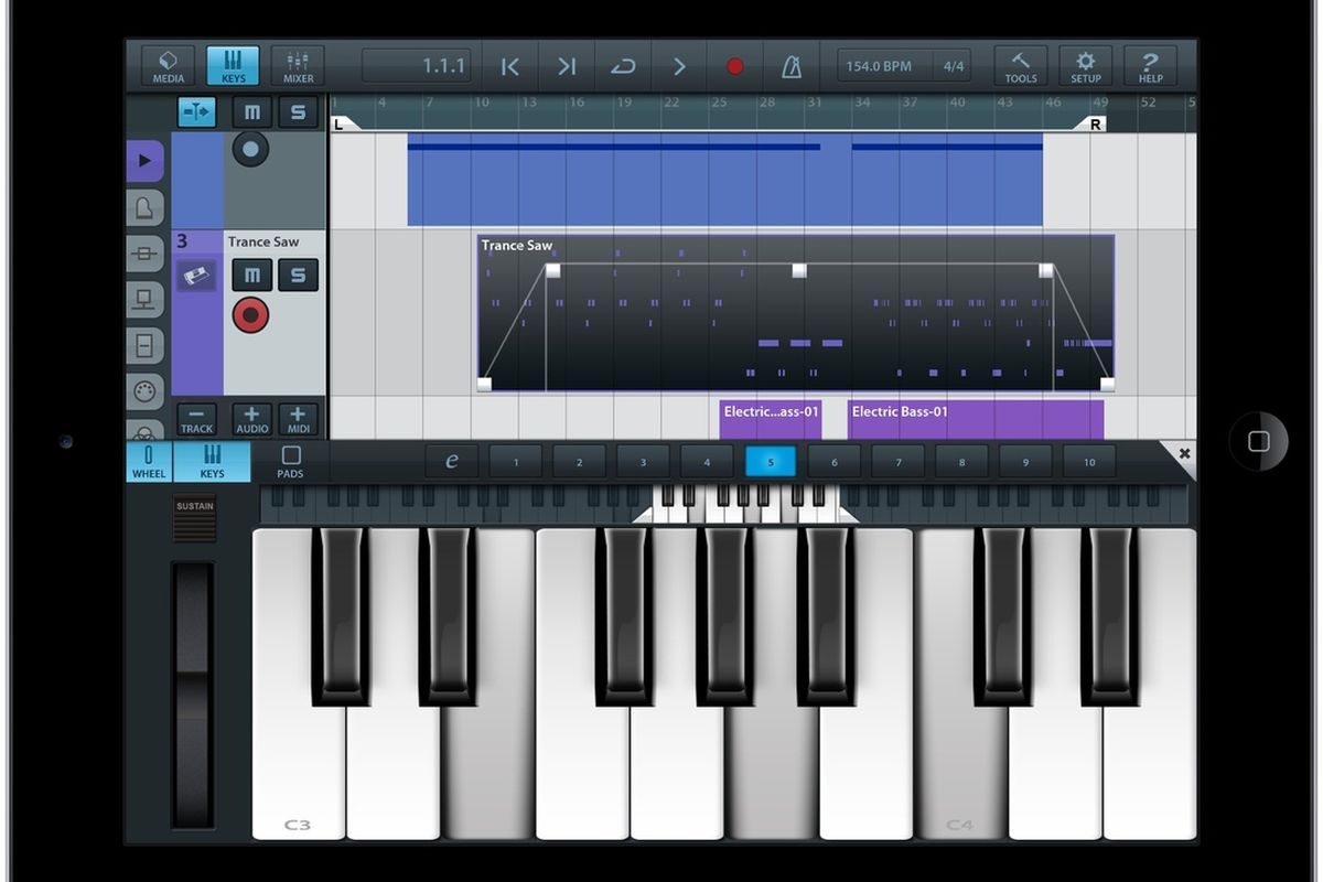 Cubasis is a new digital audio creation app built from the