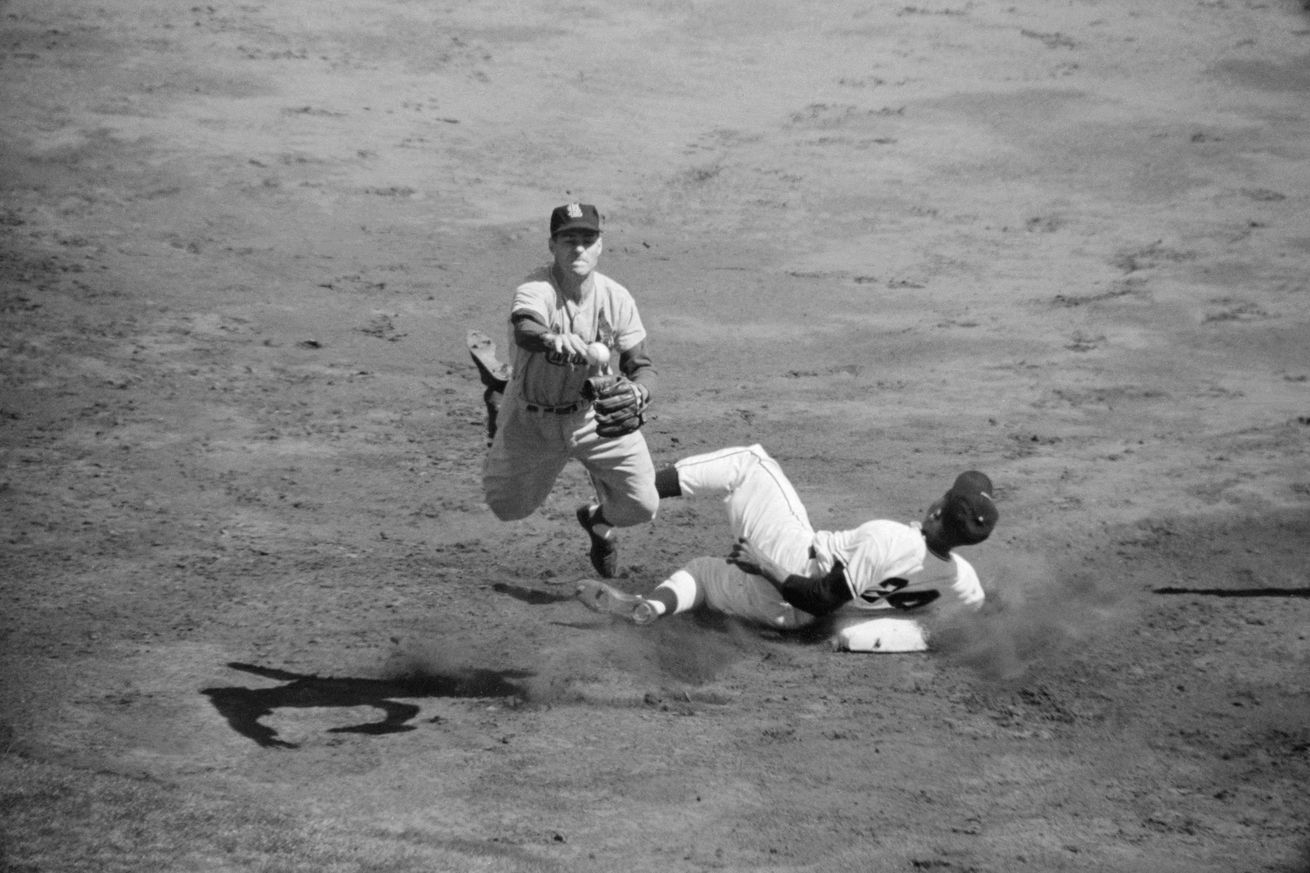 Willie Mays in Baseball Action