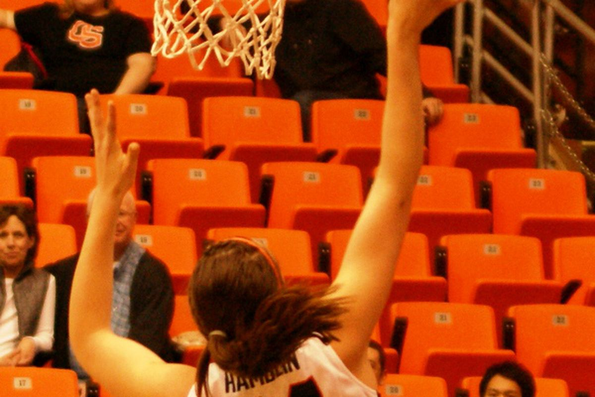 Ruth Hamblin set the tone early, and led Oregon St. to a decisive win over Arizona St.