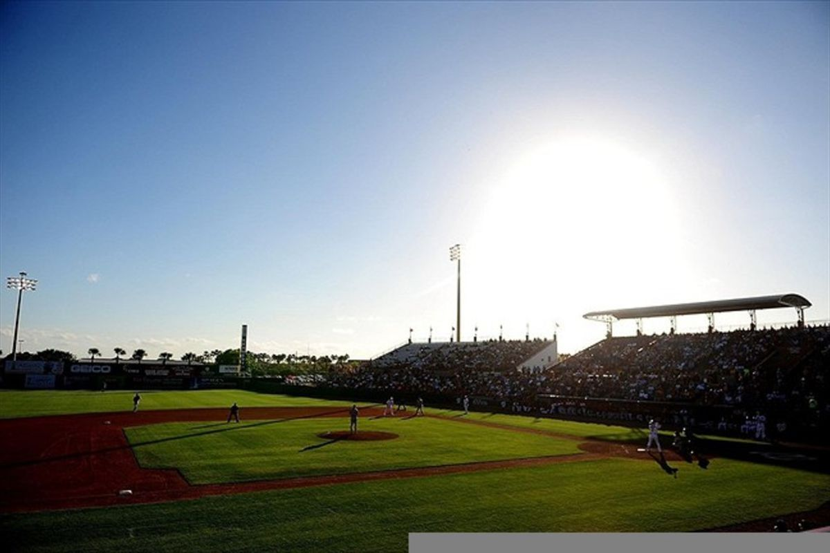 Mar. 13, 2012; Melbourne, FL, USA; General view of Space Coast Stadium in the first inning during a spring training game between the Washington Nationals and Detroit Tigers. Mandatory Credit: Andrew Weber-US PRESSWIRE