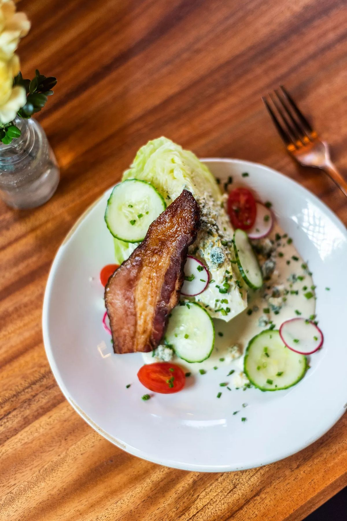 A wedge salad at La Betty