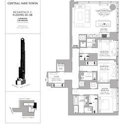 A three-bedroom on the 38th floor, asking $14.5 million.