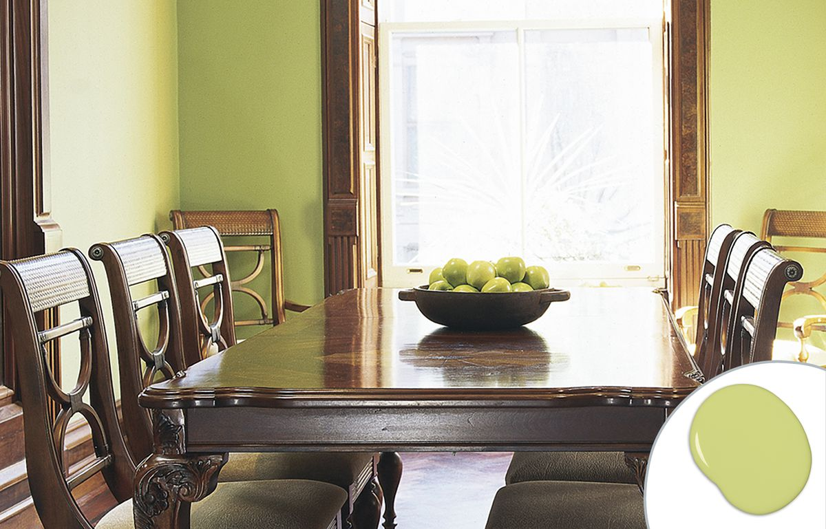 Apple Green Dining Room Paint Color
