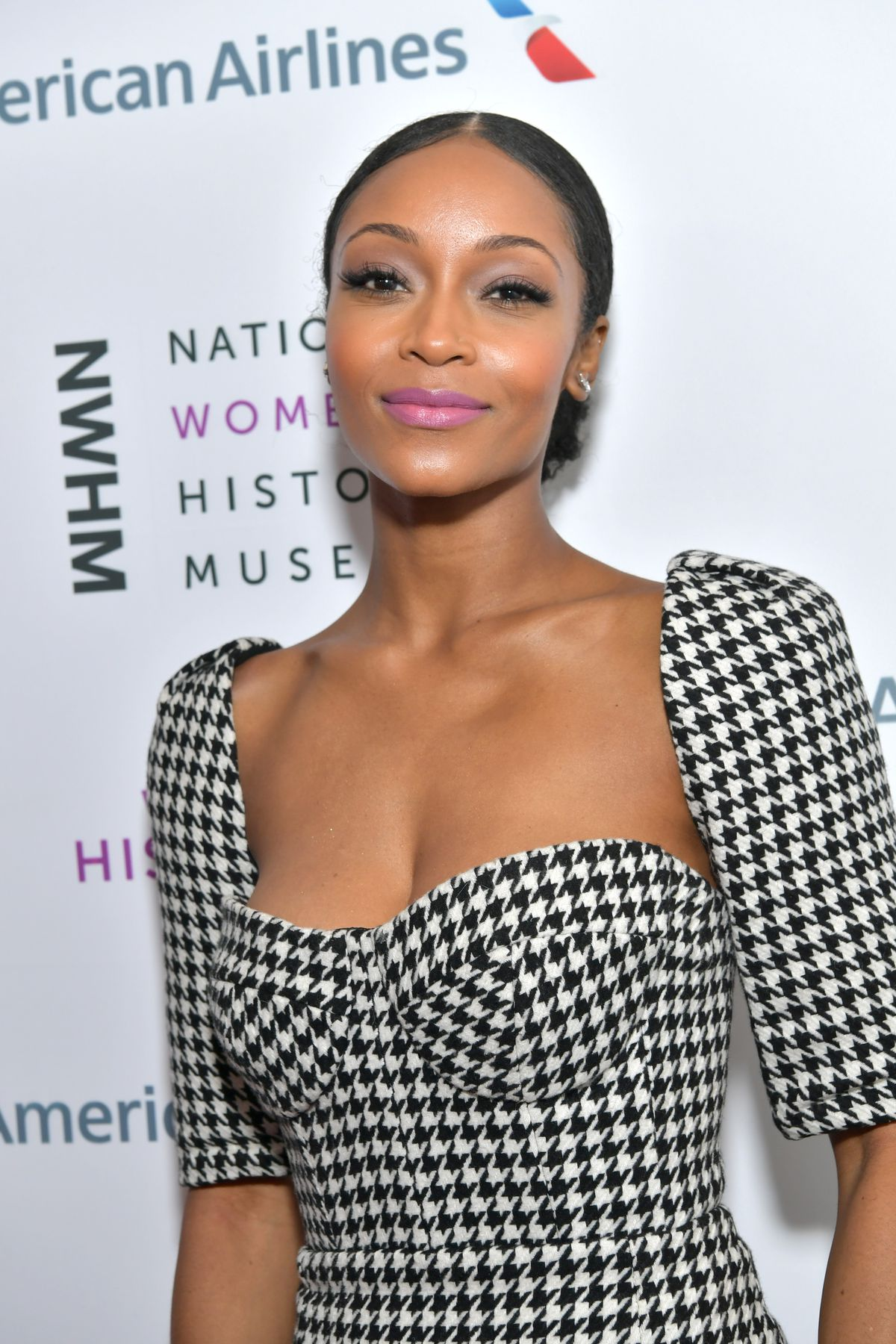 Yaya DaCosta attends the National Women's History Museum's 8th Annual Women Making History Awardsat Skirball Cultural Center on March 8, 2020 in Los Angeles.