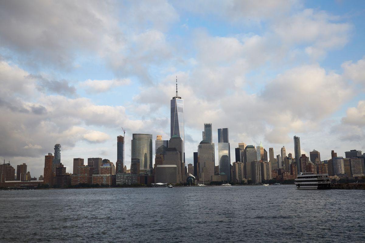 A view of the Manhattan skyline