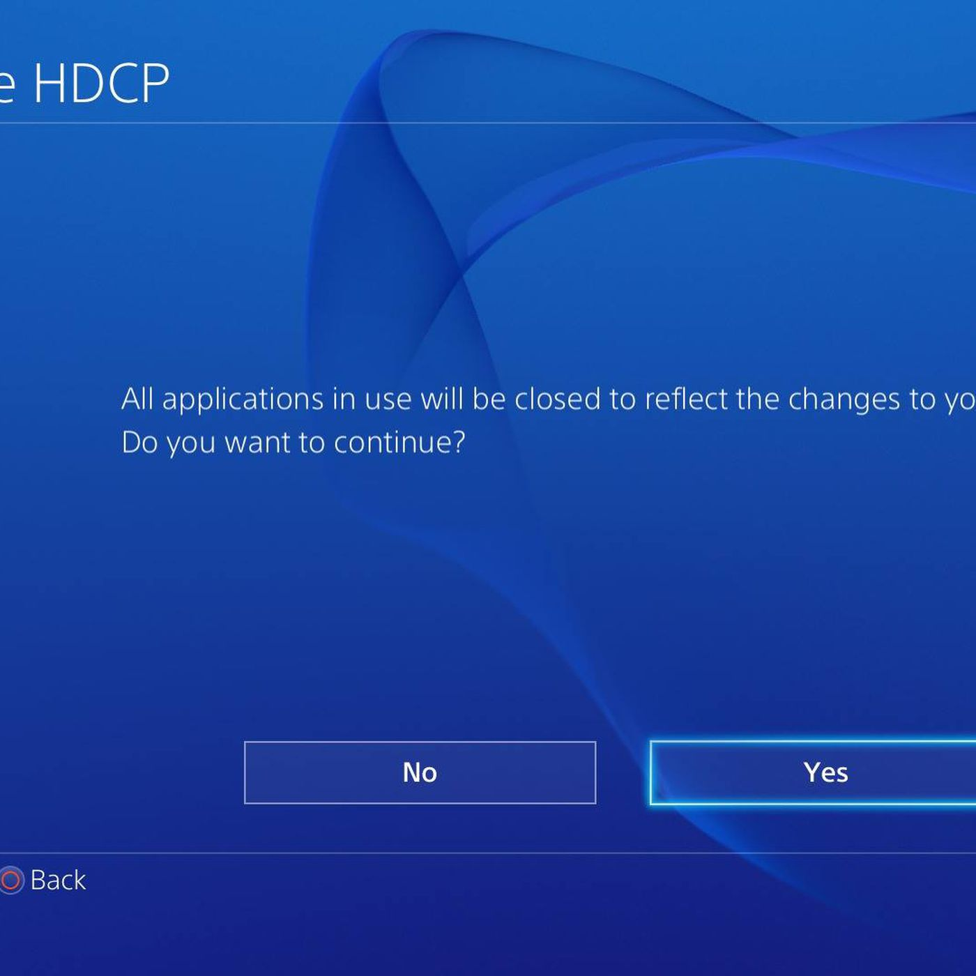 PS4 HDCP toggle must be off to record games, on to watch