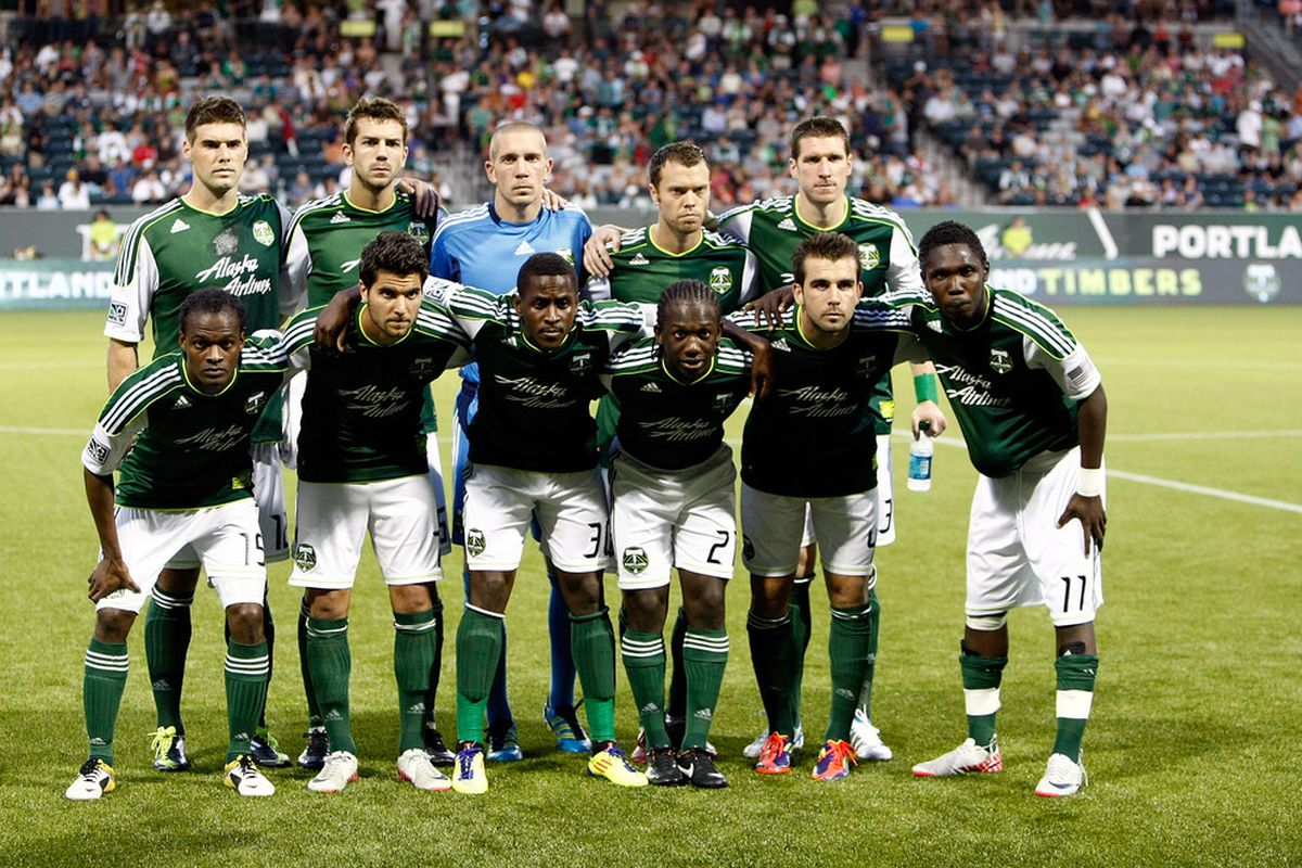 PORTLAND, OR - AUGUST 24:  A team photograph of the starters of the Portland Timbers agianst Chivas USA on August 24, 2011 at Jeld-Wen Field in Portland, Oregon.  (Photo by Jonathan Ferrey/Getty Images)