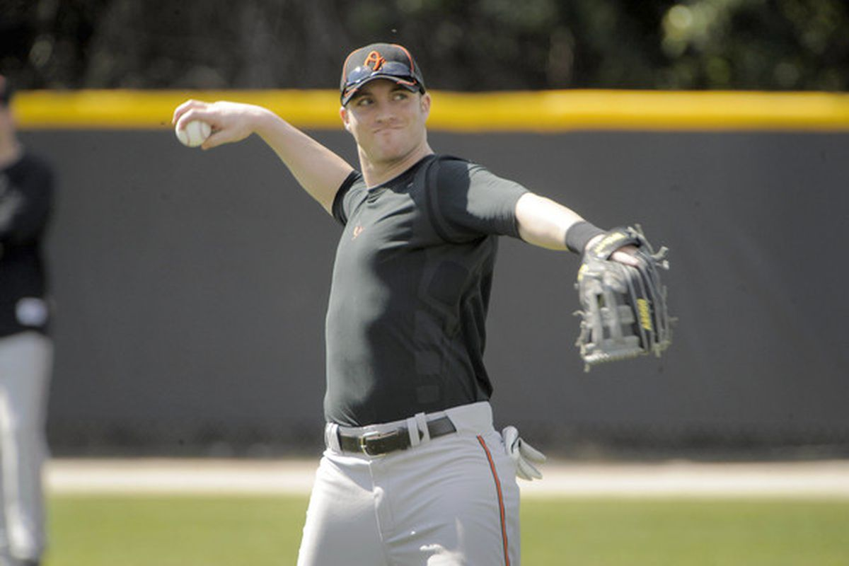 Nolan Reimold was one of the more pleasant surprises for the Orioles in 2009. Can he repeat? (Baltimore Sun photo by Karl Merton Ferron)
