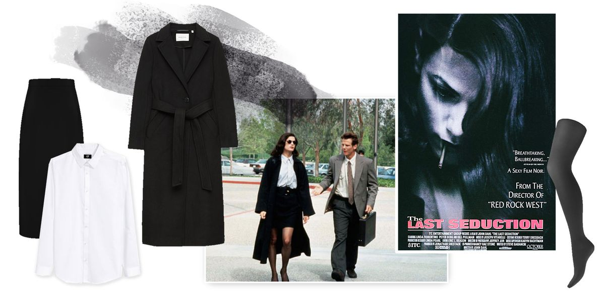 A collage of clothing inspired by the movie The Last Seduction