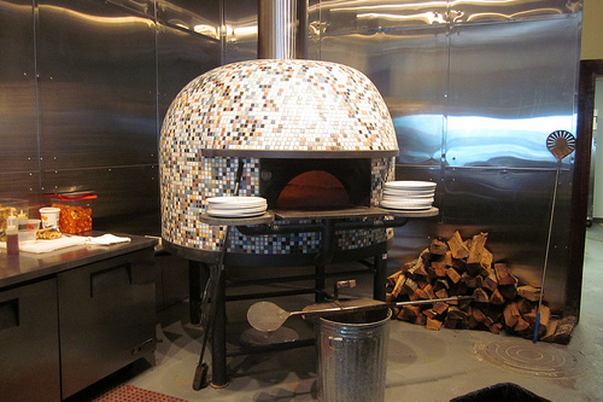 The pizza oven at Ancora.