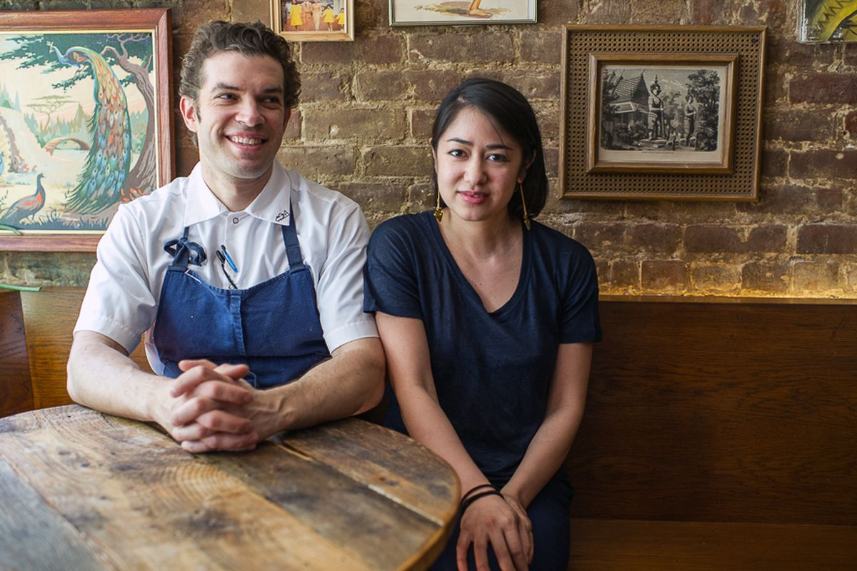 [Uncle Boons chef/owners Matt Danzer and Ann Redding.]