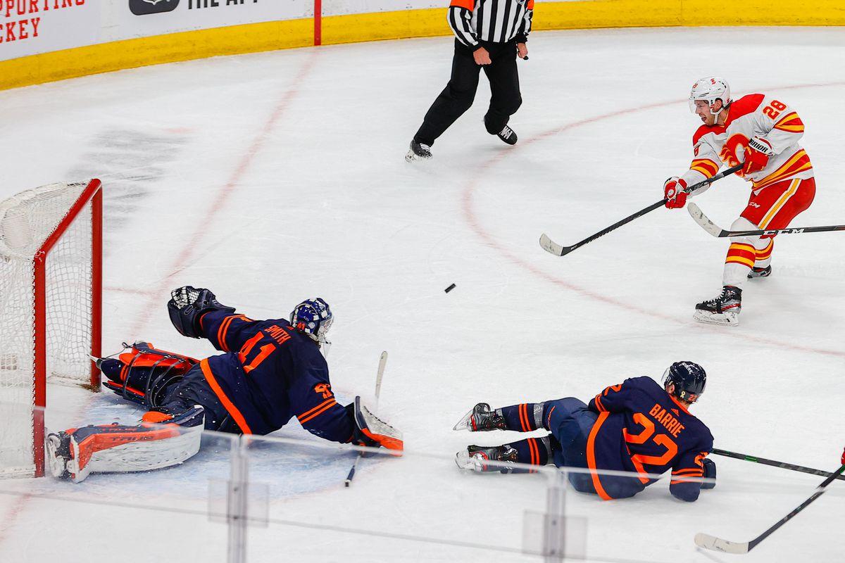 NHL: APR 29 Flames at Oilers