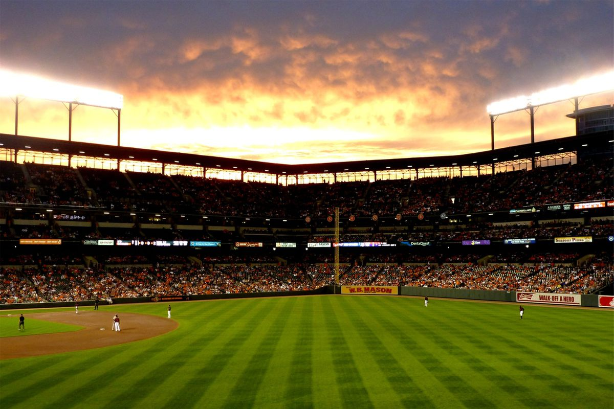 My view of Camden Yards, Baltimore, July, 2012