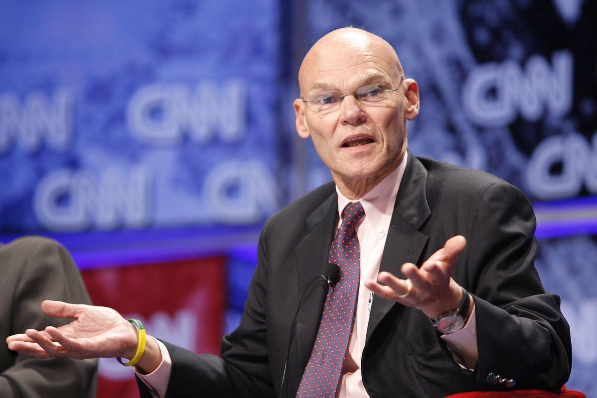 Political analyst James Carville in New York City. (Photo by Mark Von Holden/WireImage)