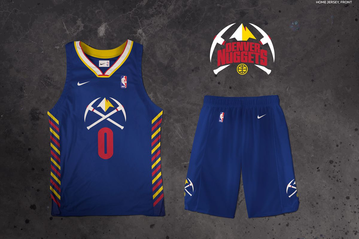 100% authentic 74840 93d1a Denver Nuggets rebrand idea with uniform and logo mockups ...