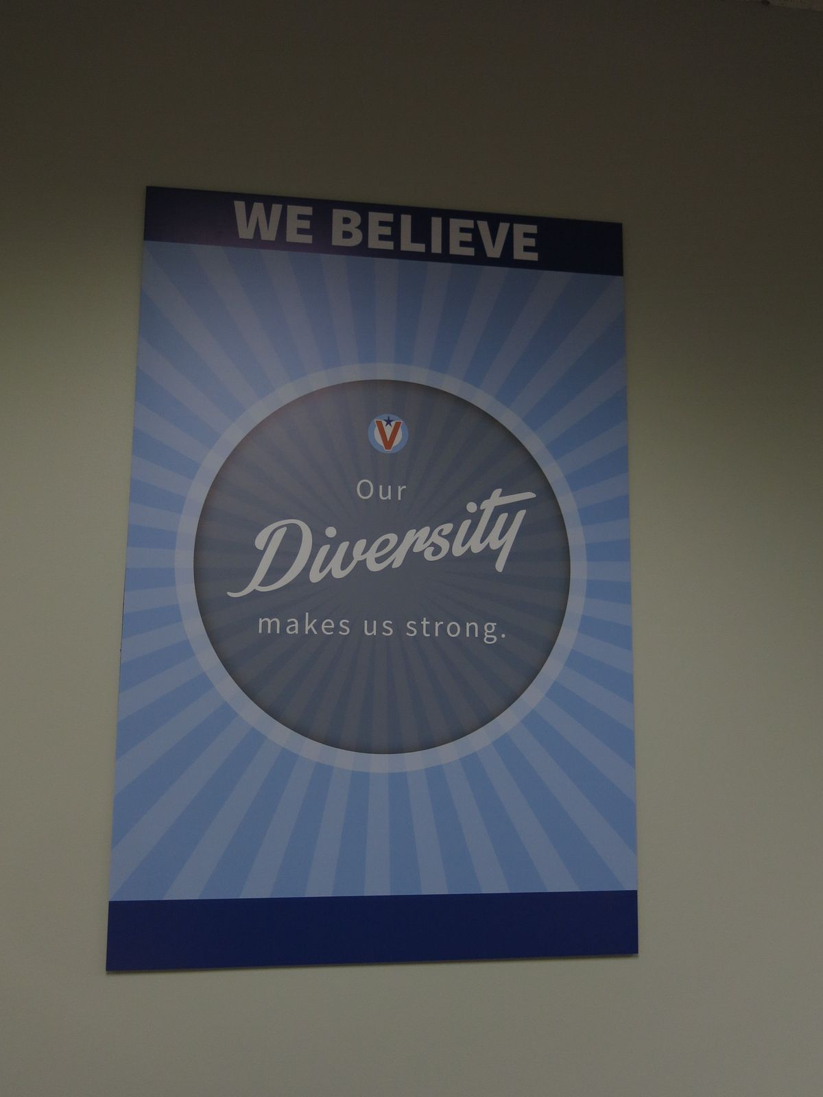 Like many charter schools, Valor is decorated with posters of the school's values.