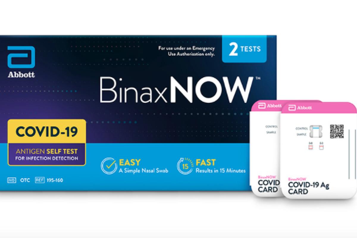 Abbott Laboratories'BinaxNOWcoronavirus self-test kits will will cost $23.99, the company said.