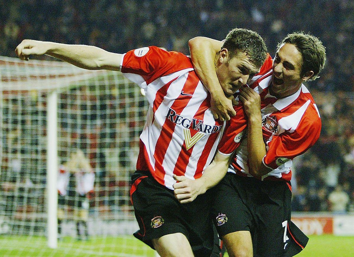 Kevin Kyle of Sunderland celebrates scoring