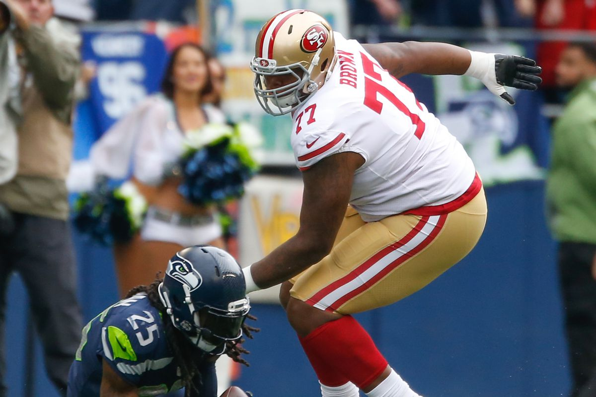 half off 1fafb 4b673 Patriots-49ers trade: Niners swap OT Trent Brown to New ...