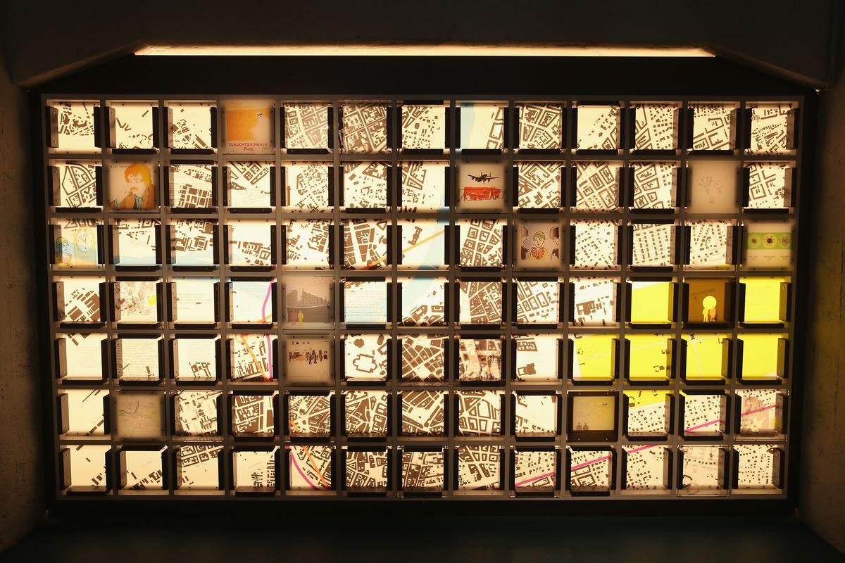 An art installation by Ruairi O'Brien seen on February 12, 2015 in Dresden, Germany.