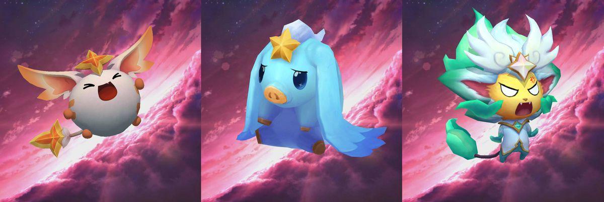 一個升級的Dango擁有武器和更大的耳朵,更新的Fuwa有長長的鬆軟的兔子耳朵,升級的Shisa得到相當的鬃毛