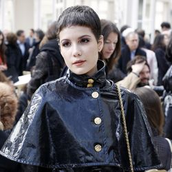 Halsey before the Chanel show.
