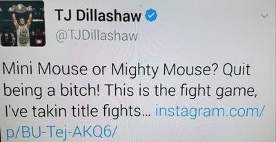 community news, TJ Dillashaw slams 'b*tch' Demetrious Johnson for ducking him   'It's kind of embarrassing'