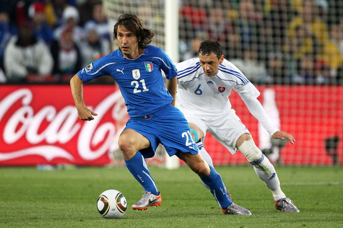 Andrea Pirlo: the key to new (old?) Italy.