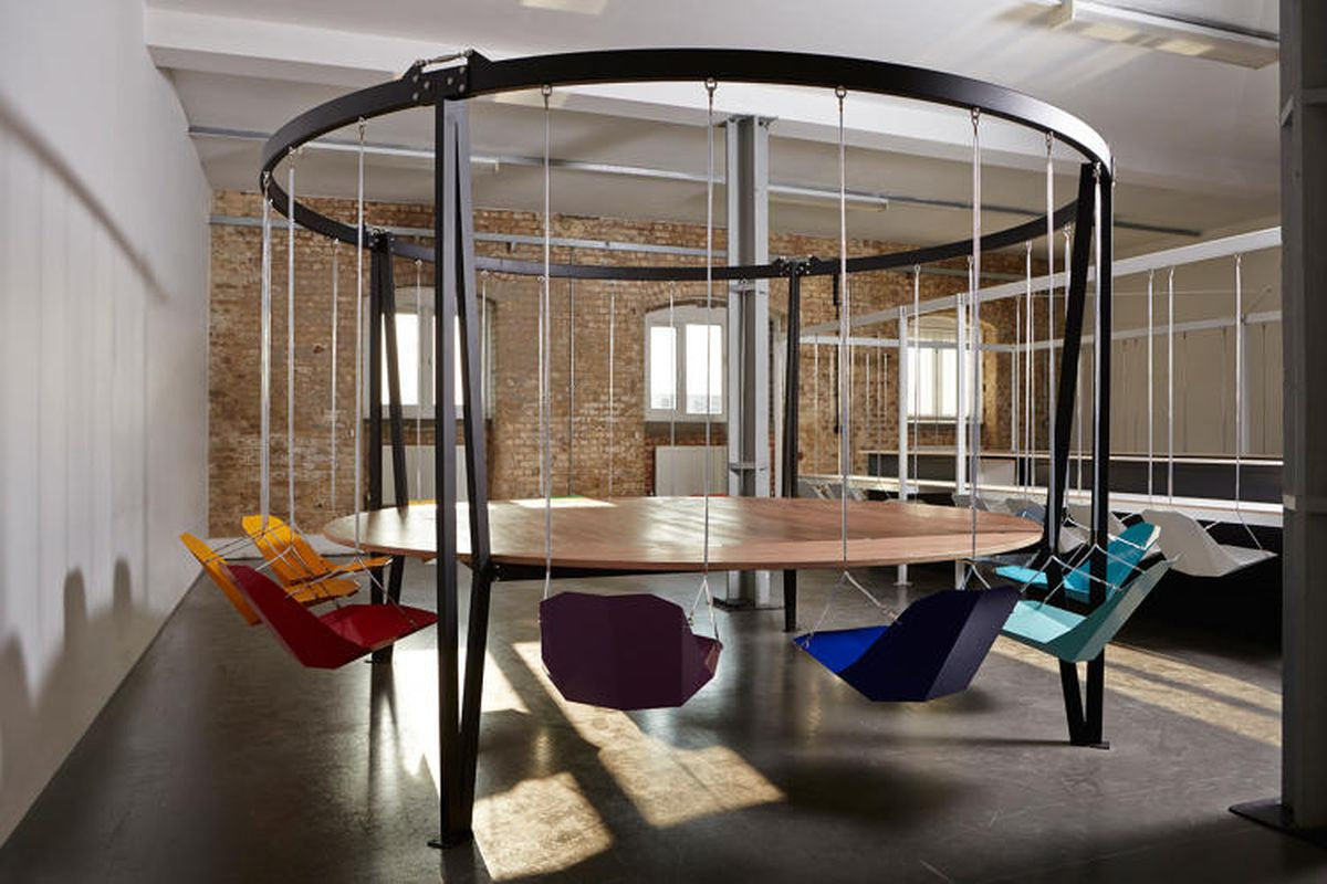 I cant decide if these swinging office chairs are amazing